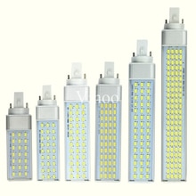 Lampada lampe à prise horizontale, 8W 10W 15W 18W 30W 110V 220V G23 G24 E27 SMD5730 Bombillas