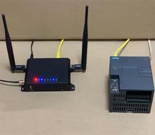 4 Ports Ethernet/4G Gateway Module for Remote PLC HMI Siemens mitsubishi schneider AB Delta Xinje Omron, LAN WAN USB Router