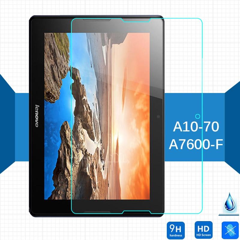 Para Lenovo A7600-F Tab A10-70 protector de pantalla de vidrio templado 2,5 9h película protectora de seguridad sobre Tab A7600 un 7600 de 10,1 pulgadas