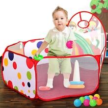 2018 diámetro 0,9 M portátil niños habitación Ocean Ball niños Pit Pool Play juguete para interior y exterior carpa bebé niños regalos