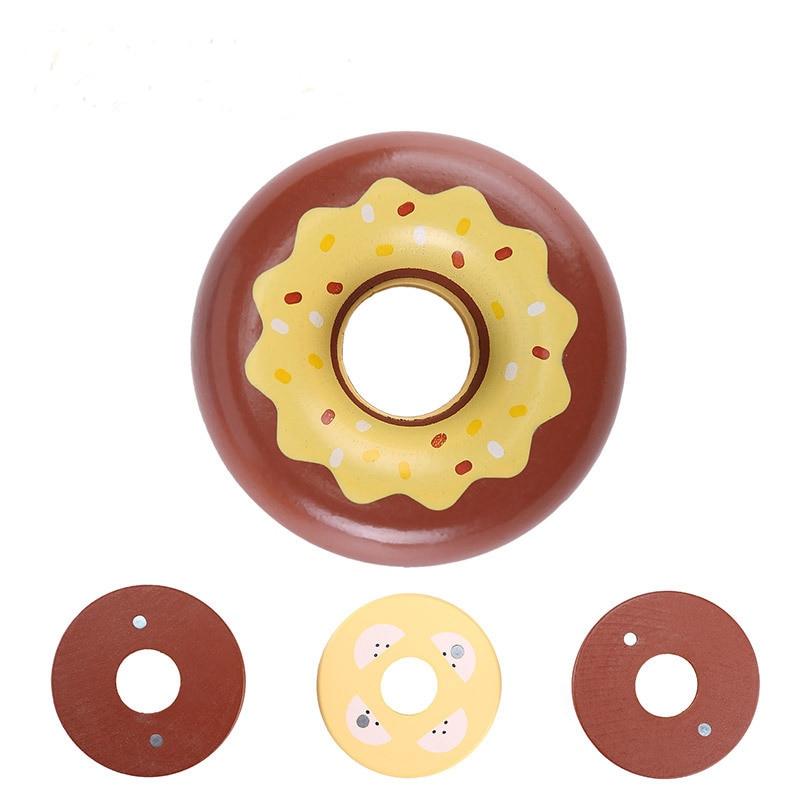 Morango de madeira chocolate cozinha donut corte simulação brinquedos comida presente crianças brinquedos para meninas meninos fingir jogar