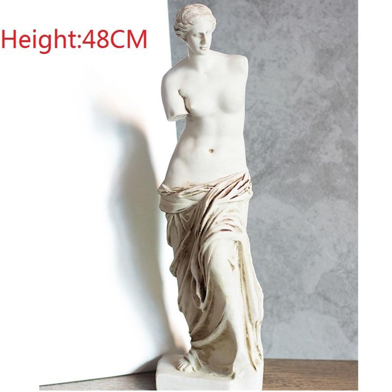 48CM Roman Mythology Venus Goddess Statues Art Sculpture Resin Art&Craft Home Decoration Accessories Art Material R913