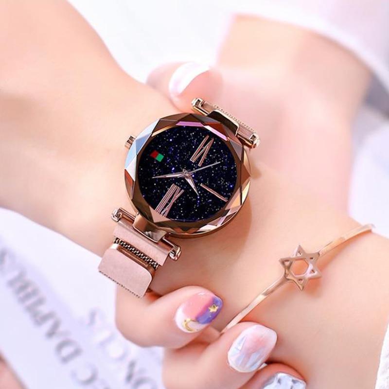 2019 Crystal Quartz Watch Women Luxury Brand lady Dress Watch Fashion Rose Gold Watches Female Stainless Steel Wristwatches enlarge