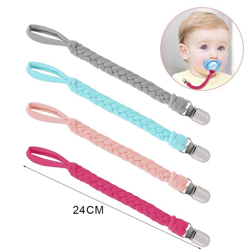 Attache sucette chaîne attache factice porte-sucette attache tressée porte-tétine sucette chaîne pour nourrisson alimentation bébé