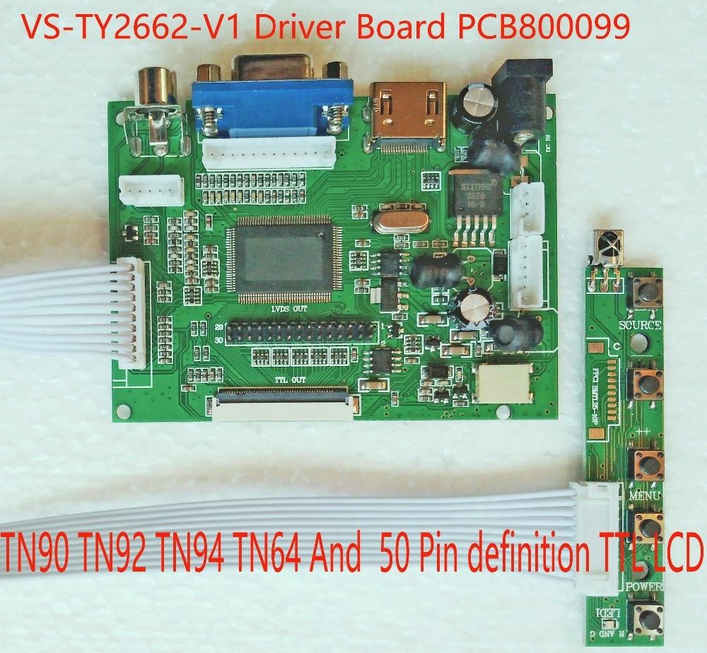 Monitor con controlador HDMI TTL VGA LVDS AV Universal con programador USB Burnner PCB800099