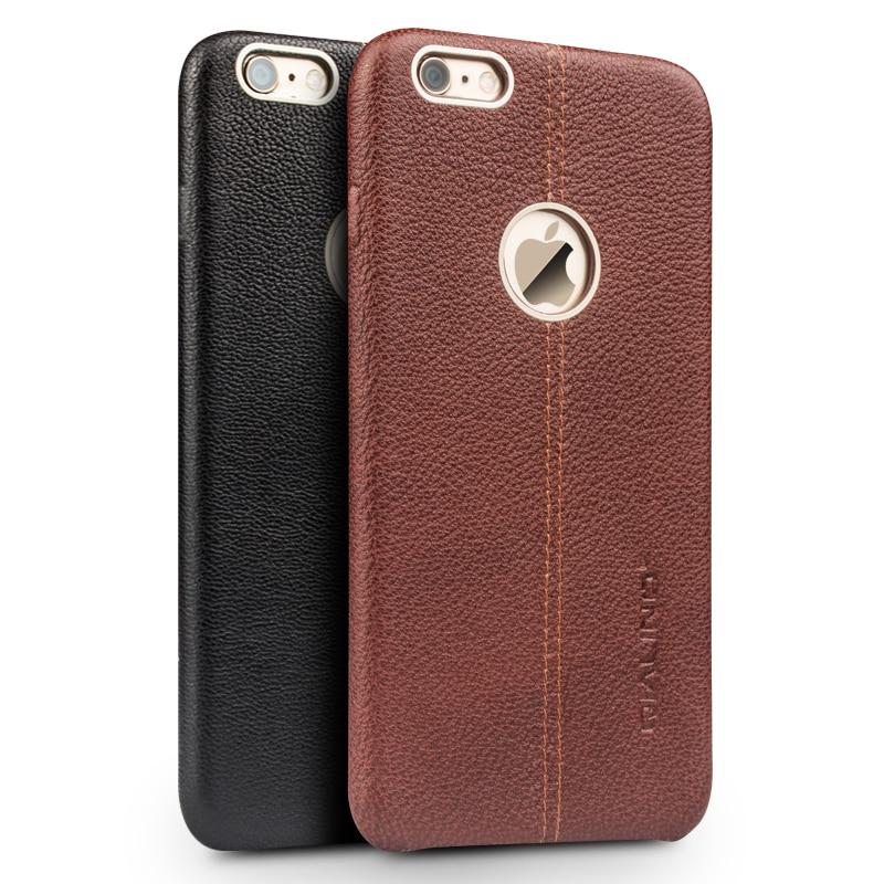 Funda de teléfono móvil de cuero genuino QIALINO para iPhone6 6 s moda de lujo Ultra delgada para iPhone6 6 s más 4,7/5,5 pulgadas
