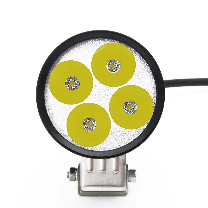 LDDCZENGHUITEC-مصباح أمامي led للدراجات النارية ، 3400lm 35W 4 * U6 Cree ، مصباح أمامي للدراجات النارية