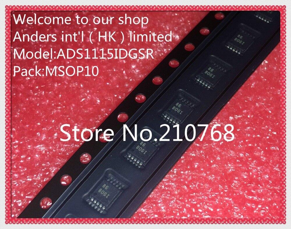 10 teile/los ADS1115IDGSR ADS1115IDGS ADS1115 IC ADC 16BIT 860SPS LP 10 MSOP