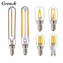 Grensk-lustre à Filament 3 W 2 W, T20, 110 V, 220 V, blanc chaud, 2200K