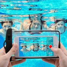 Sac étanche étui de téléphone portable pour iPhone X 8 sous-marin lumineux téléphone pochette couverture pour Samsung S9 clair PVC scellé étui de bain