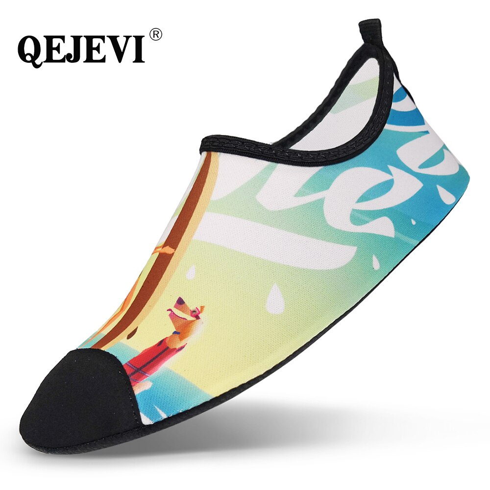 Cheap QEJEVI  Water Sport Shoes Women Men Aqua Barefoot Summer Sea Surf Beach Shoes for Swimming Walking Yoga Footwear Sneaker