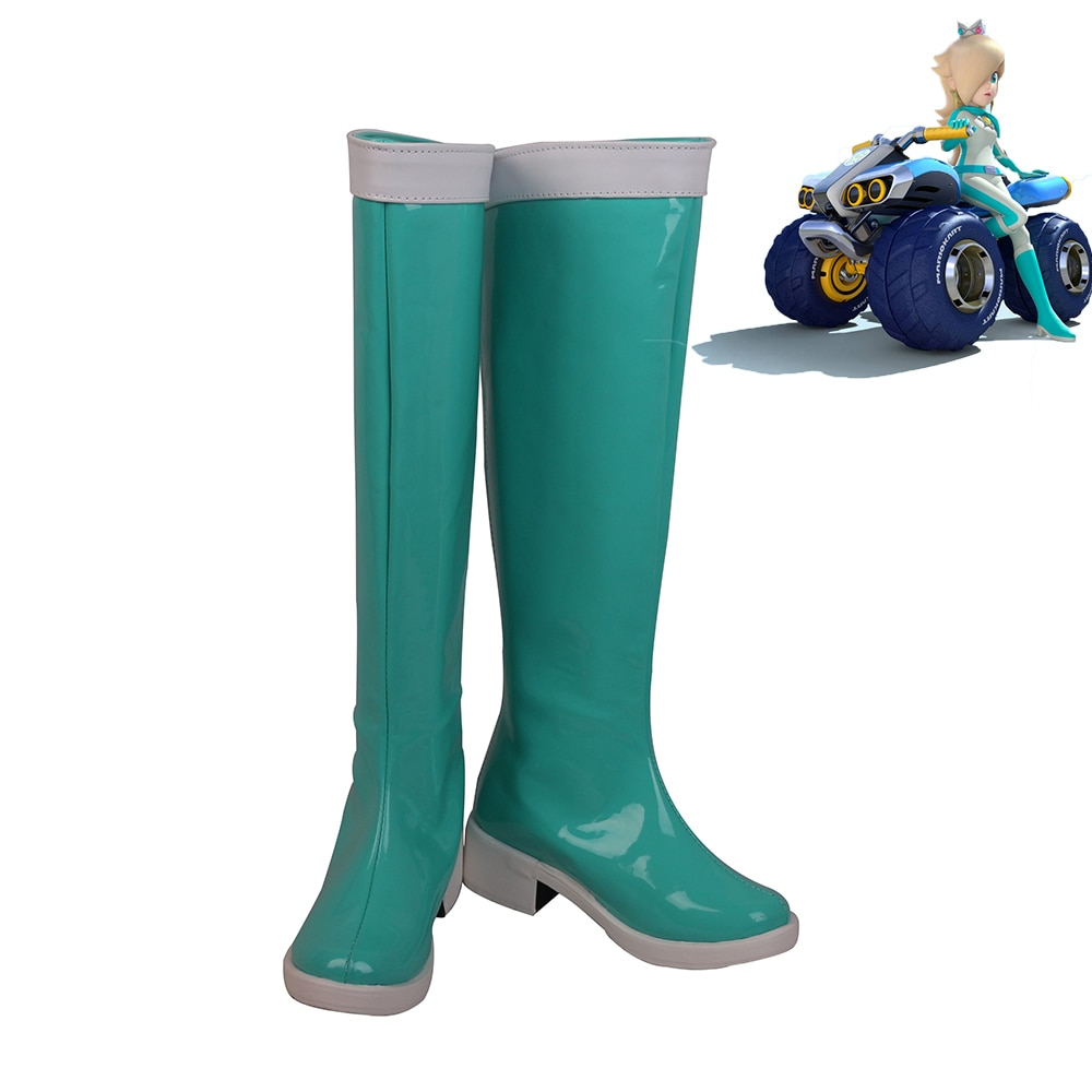 Zapatos de Cosplay de Mario Kart, princesa Rosalina Rozetta, botas de mujer