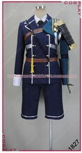 Offre spéciale Touken Ranbu en ligne Atsu Toushirou Cospaly Costume Nakigitsune Cool Polyester Uwowo Costume haut & pantalon & armure ceinture
