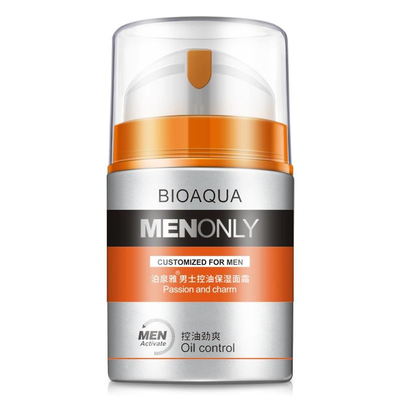 BIOAQUA Brand Men Skin Care Deep Hydrating Moisturizing Oil-control Whitening Face Cream Anti Wrinkle Anti-Aging Day Cream 50g