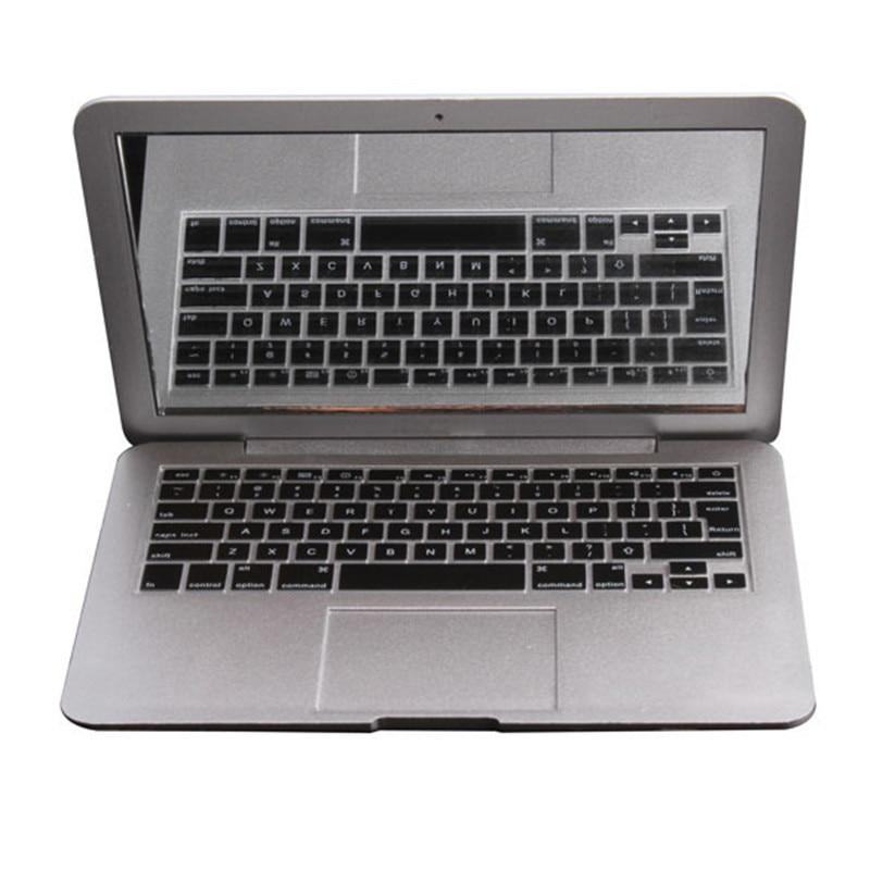 MirrorBook Air Silver Mini Novel Makeup MirrorBook Air Mirror For Apple MacBook Shaped HB88