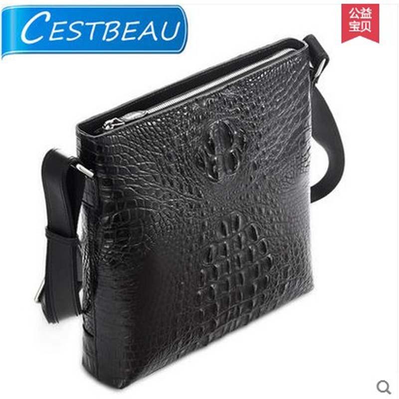 Cestbeau imported crocodile leather men bag single shoulder bag men's bag  business casual bag freeshipping  new arrival