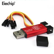Electrónica Inteligente ST LINK Stlink st-link V2 Mini STM8 STM32 simulador descargar programador programación cubierta caso DuPont Cable