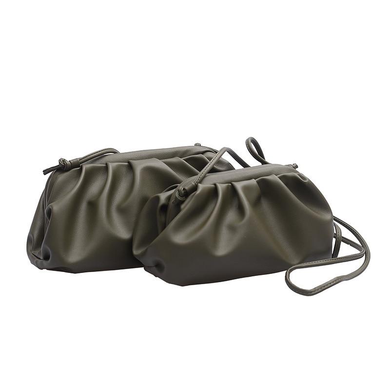 Purses and Handbags Shoulder Messenger Bags for Women 2019 New Cloud Bag  Fold Bag Leather Bag Single-shoulder Oblique Dumplings