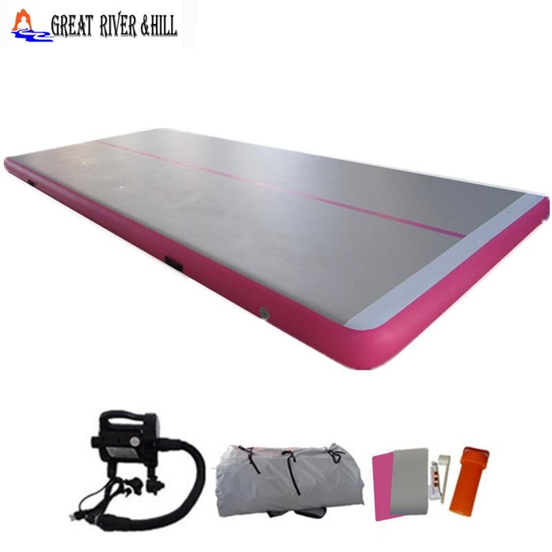 Great river hill gymnastics equipment gym mat inflatable air floor foldable mat 9m x 1.5m x 10cm