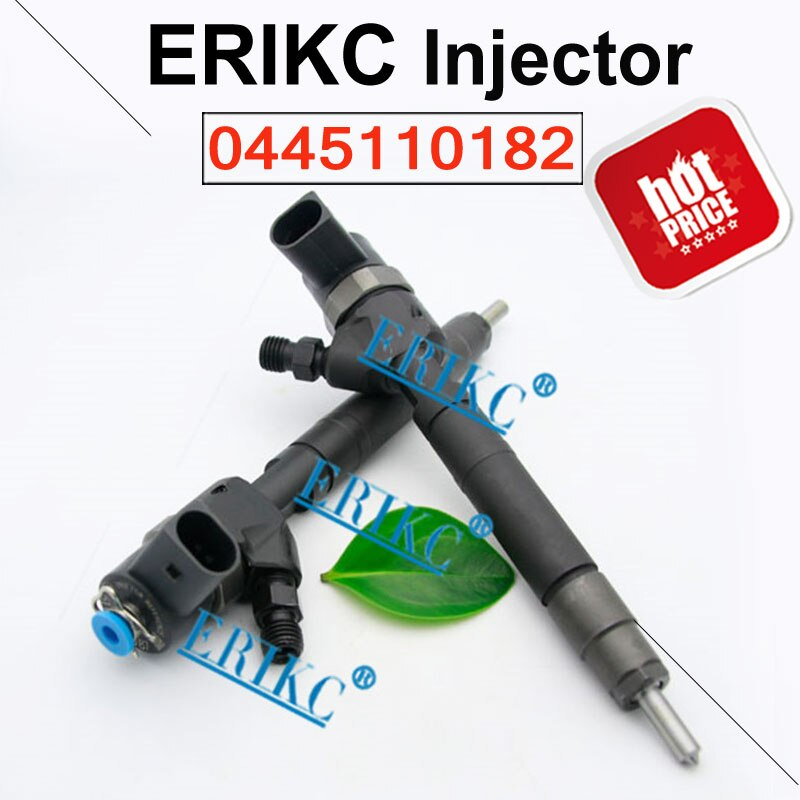 ERIKC Bocal de Combustível Injector 0445110182 para Motores Diesel Common Rail de injeção 0 445 110 de Reposição de 182 MB de Injetores de combustível 0445 110 182 Para DODGE