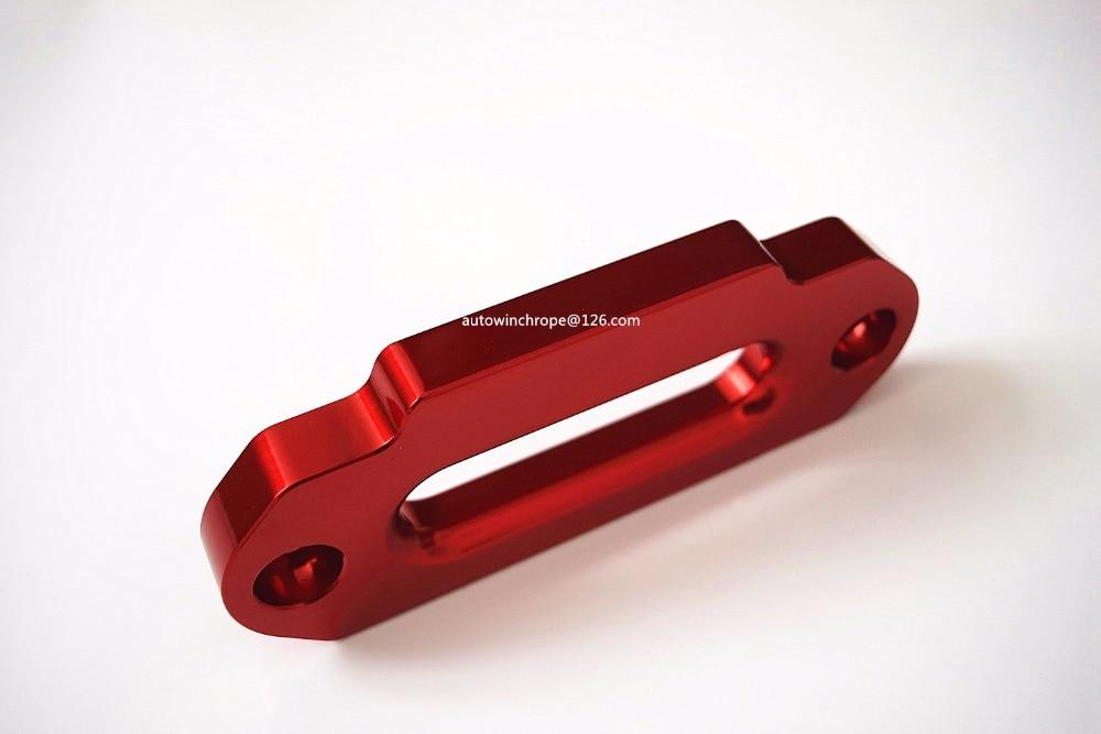 Fairlead de alumínio hawse vermelho 4000lbs, corda sintética do guincho, fairlead sintético, guincho fairlead