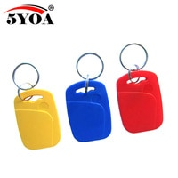 5pcs IC+ID UID Rewritable Composite Key Tags Keyfob Dual Chip Frequency RFID 125KHZ T5577 EM4305+13.56MHZ Changeable Writable