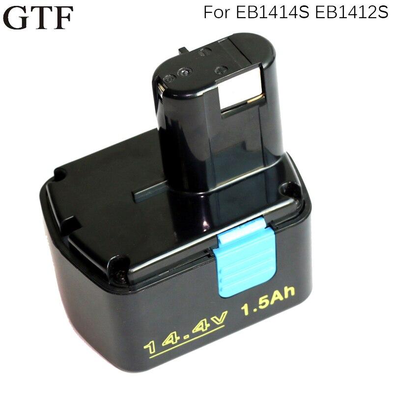 Batería de herramienta recargable GTF 14,4 V 1500mAh para Hitachi EB1414S EB1412S EB1414 EB1414L EB1414S C-2 CJ 14DL DH, celda recargable