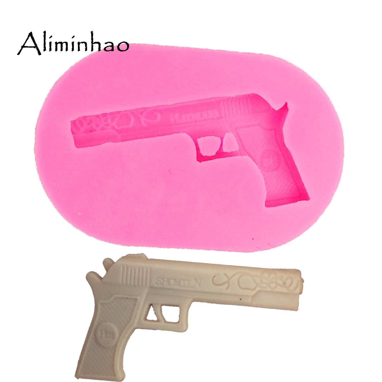 DY0029 pistola DIY sobremesa Moldes Dos Doces De Chocolate Molde De Silicone Sugarcraft Fondant Ferramentas de Decoração Do Bolo