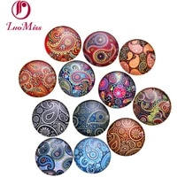 24x 14mm antique stitch flowers pattern bezel photo glass cabochons glass dome diy handmade cabochon beads for base tray