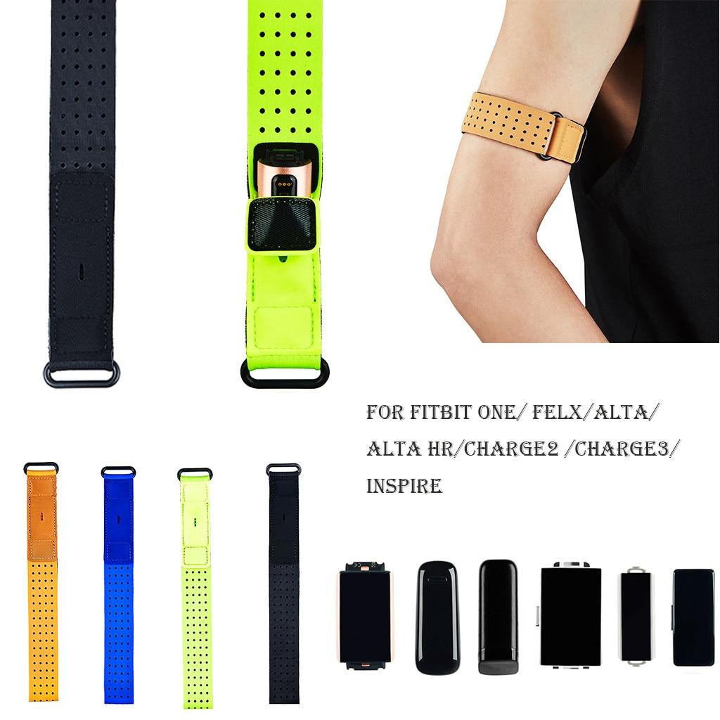 Correa de reloj deportiva fluorescente 2020 para Fitbit /Charge 2 /Charge 3/Inspire/Alta Hr de 46CM #595