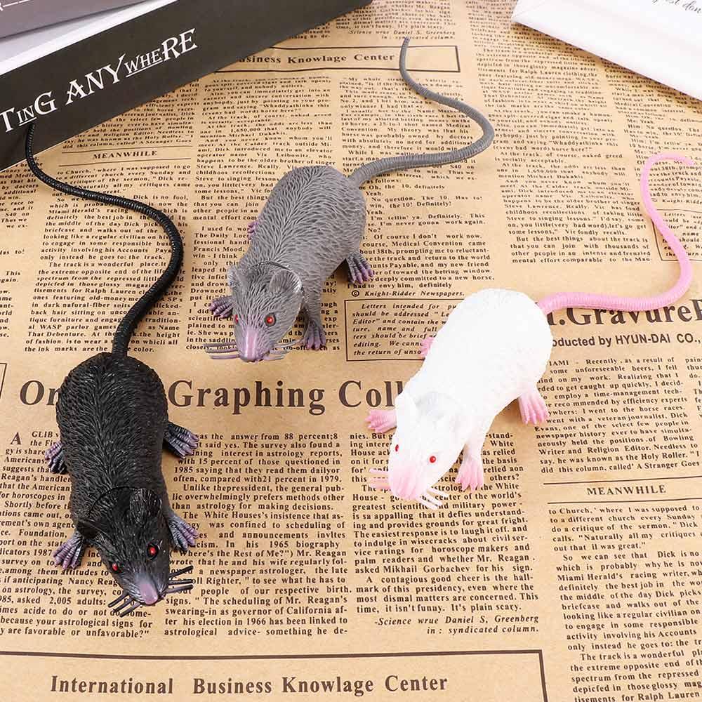 2019 Hot 1 Pcs Funny Tricky Joke Nep Levensechte Mouse Model Prop Halloween Gift Speelgoed Party Decor voor Kids Novelty & Gag Speelgoed