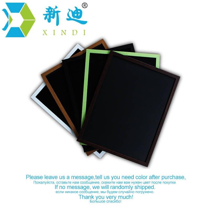 Neue 35*45cm MDF Holz Rahmen Tafel Magnetische Tafel Trockenen Löschen Schreibtafel 5 Farben Hause Dekorative Nachricht boards