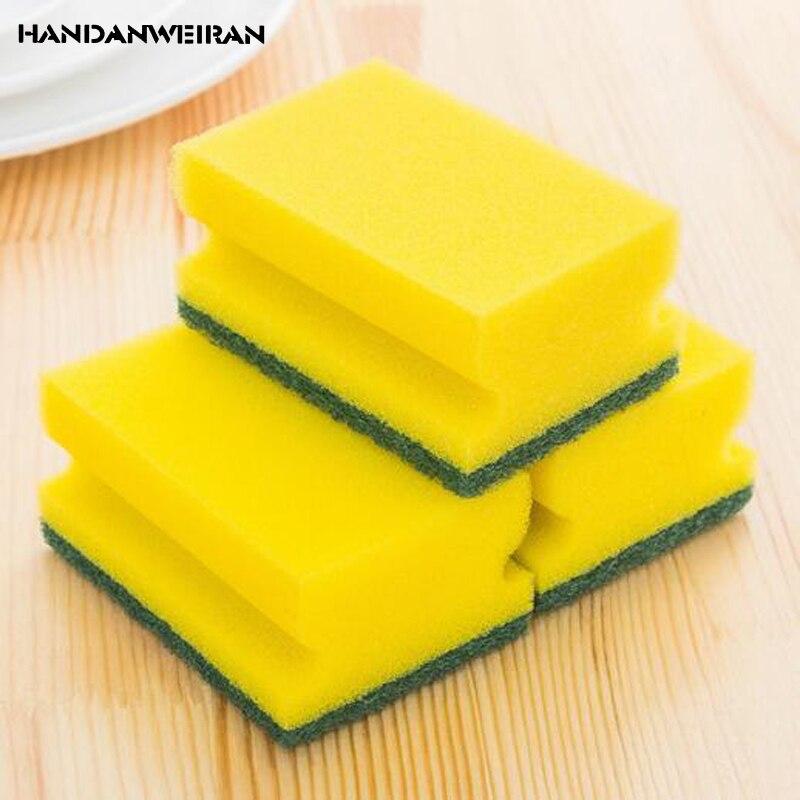 3 шт. губка посудомоечная машина магический ластик уборка ткань меламин хлопковую губку держатель щетки для Кухня чистящие средства