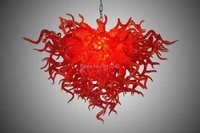chinese red wholesale price murano glass chandelier 100 hand blown glass chandelier lamp