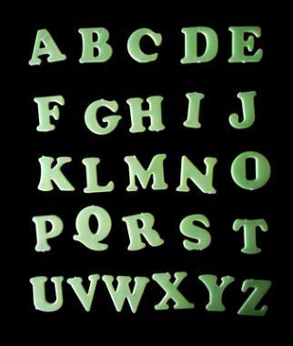 26 letras en inglés pegatinas fluorescentes luminosas pegatinas de pared educación temprana perspectiva serie lumin