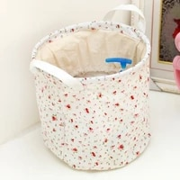 fashion folding cotton fiber bundle pocket cylinder storage bag 2323cm free shipping