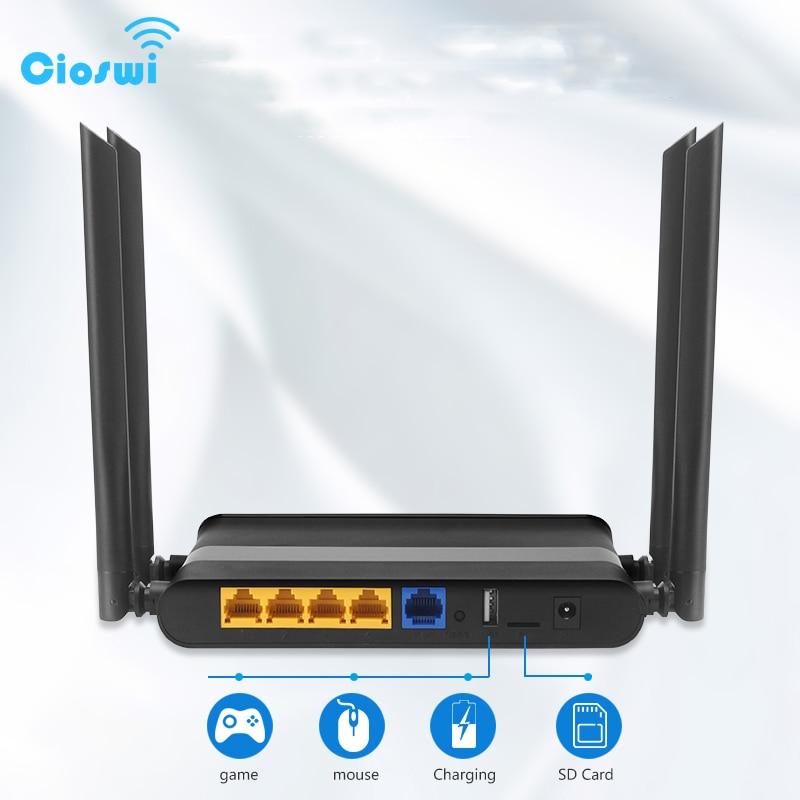 mais recente 80211ac 10 roteador gigabit wi fi sem fio 100 m 1000 m dual band 5 ghz