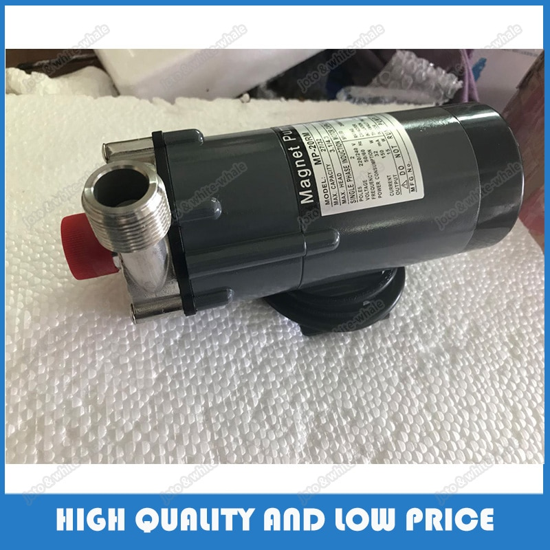 (MP-20R/RM) bomba de agua centrífuga portátil magnética eléctrica resistente a la corrosión de acero inoxidable 110/220V