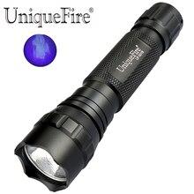 UniqueFire UV 365NM lampe de poche ultraviolette LED lumière noire pour détecter le faux argent, le Jade, les Scorpions de tache, lurine danimal de compagnie