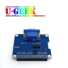 UGEEK GPIO to VGA Adapter HAT Expansion Board/Shield for Raspberry Pi 3 Model B, 3B+, 4B, 3A+, 2B, B+, A+, Zero, Zero w