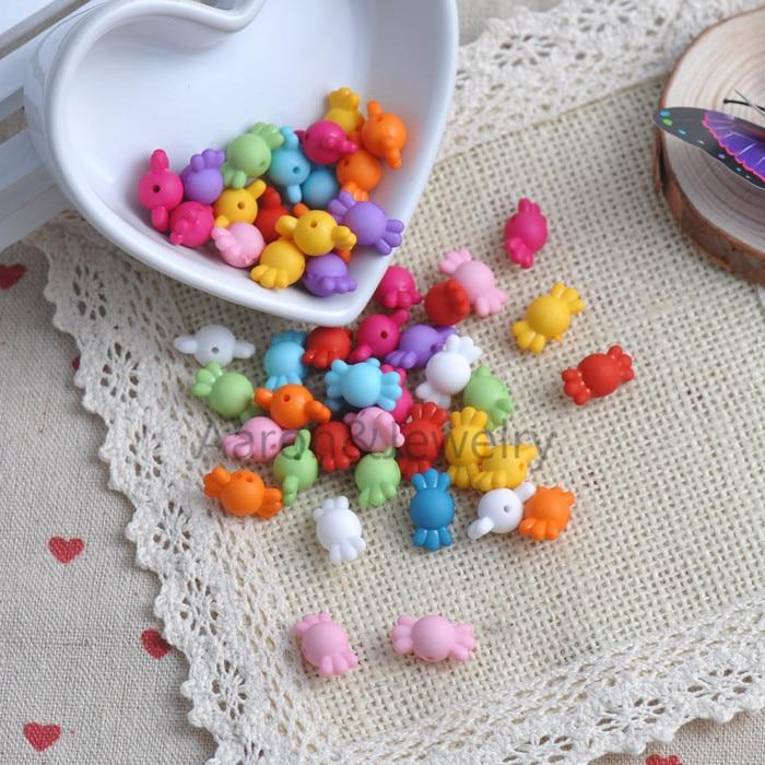 Cuentas de neón espaciadoras de caramelo de Color mezclado acrílico 9x17mm 50 Uds. Joyería hecha a mano YKL0405X