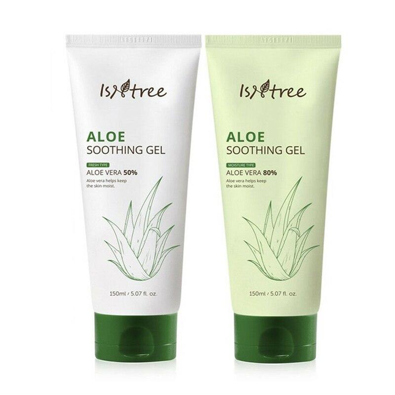 Isntree Aloe calmante Gel 150ml Aloe Gel calmante Aloe vera Gel humectante cuidado de la piel tratamiento para el acné, Anti arrugas crema de día