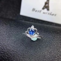 natural sapphire ring 925 sterling silver ring ring precious stones send a lover a girlfriend a gift noble