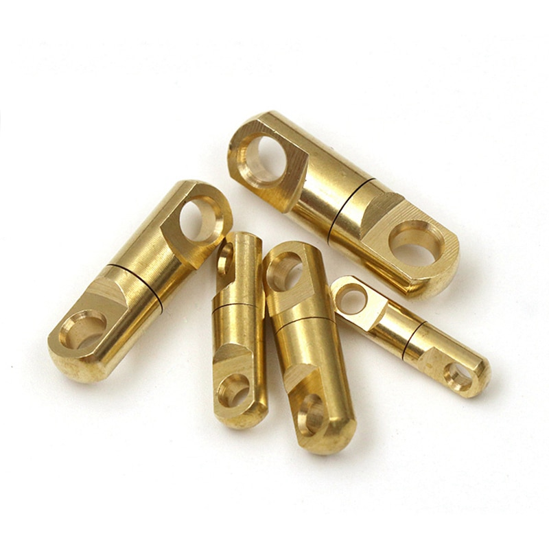 2Pcs Solide Messing Swivel Auge Rotierenden Stecker für Keychain Runde Kreis Schlüssel Ring