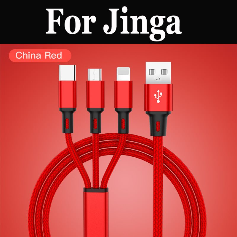 Baseus 3 in1 Cable USB Cable Micro USB tipo C Cable rápido para Jinga Basco M500 3G A500 4G tormenta Touch 4G empezar Optim