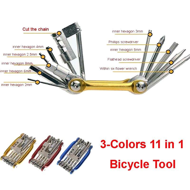 Инструменты для ремонта велосипеда 11 в 1 инструмент горного и шоссейного
