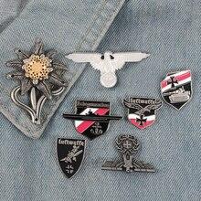 İkinci dünya savaşı WW2 alman askeri çapraz kartal Pin kap Cockade yaka Pin ordu elit Edelweiss birlikleri İmparatorluğu çiçek Luftwaffe pimleri rozetleri