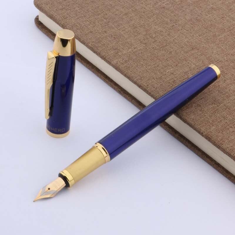 Chouxiongluwei pluma de METAL azul Oficina dorado nuevo M pluma estilográfica