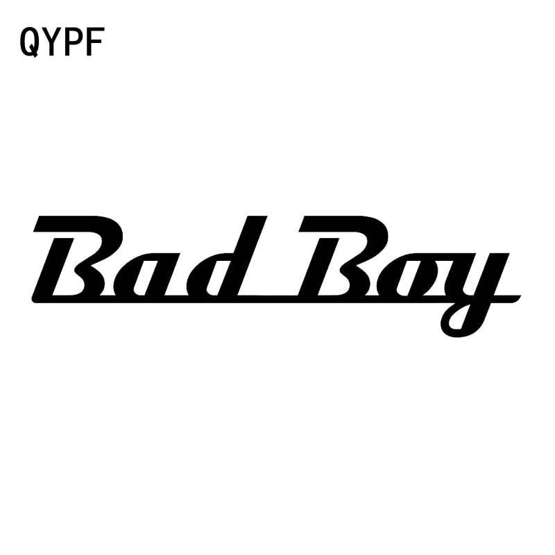 QYPF 17,3 CM * 4,3 CM divertido alfabeto inglés Bad Boy pegatina de vinilo de coche a prueba de agua calcomanía negro plata C15-1929