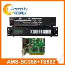 Processeur dépissage de prix concurrentiel de AMS-SC358 avec une carte denvoi dune pièce ts802d pour laffichage mené par lancement fin